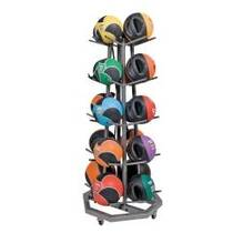 Premium Med Ball Tree Kit Gray with 20 Basic Med Balls