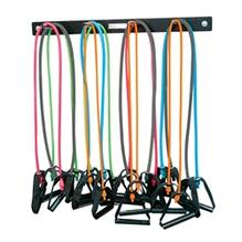 Wall-Mounted Rack for Belts, Tubing, or Jump Ropes