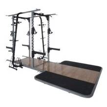 Pro Maxima PL310 Pro Double Sided Half Rack w/ Oak Platform