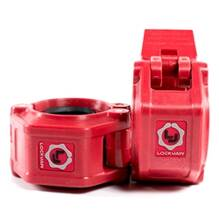 Lock-Jaw Olympic Barbell Collar Red