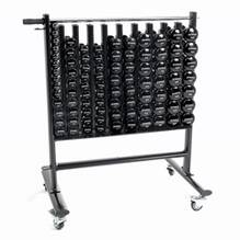 Premium Dumbbell Storage Rack w/ 44 Black Neoprene Pairs DB