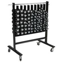 Premium Dumbbell Storage Rack w/44 Pairs of APPLE Vinyl DB