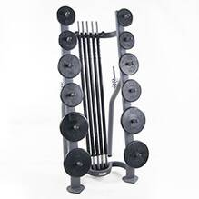 Standard CardioBarbell Rack 10 Sets 10 Set Storage Rack ONLY