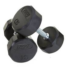 Troy 12 Sided Rubber Dumbbell