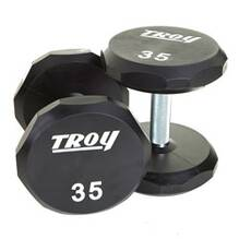 Troy Urethane Logo Dumbbell - Customizable